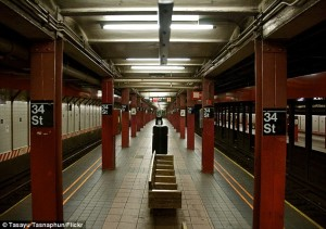 hidden surveillance cameras in New York subway stations